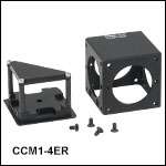 Compact 30 mm Cage Cube for Prisms and Beamsplitter Cubes
