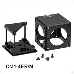 Empty CM1 Prism/Mirror Cage Cube Mounts