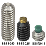 8-32 Stainless Steel or Alloy Steel Setscrews
