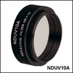 Ø25 mm UV Fused Silica Metallic ND Filters, Mounted