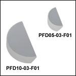 UV-Enhanced Aluminum D-Shaped Mirrors (250 - 450 nm)