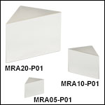 Right-Angle Prism Mirrors, Protected Silver Coating (450 nm - 20 µm)