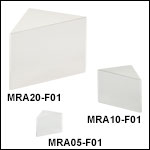 Right-Angle Prism Mirrors, UV-Enhanced Aluminum Coating (250 nm - 450 nm)