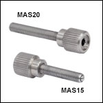 M3 x 0.25 Adjustment Screws with Knobs