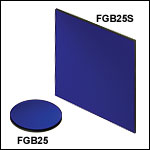 Unmounted Double Bandpass Colored Glass Filters: 315 - 445 nm and 715 - 1095 nm