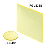 Unmounted 435 nm Longpass Colored Glass Filters