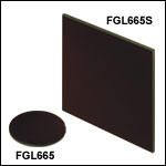 Unmounted 665 nm Longpass Colored Glass Filters
