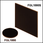 Unmounted 1000 nm Longpass Colored Glass Filters