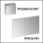 Square and Rectangular Protected Silver Mirrors