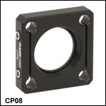 SM1-Threaded 30 mm Cage Plate with Enhanced Clamping