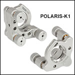 Polaris<sup>®</sup> Ø1in Kinematic Mirror Mounts, 3 Adjusters, Flexure Spring Optic Retention