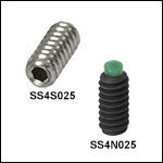 4-40 Stainless Steel or Alloy Steel Setscrews