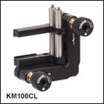 Adjustable Kinematic Mounts for Rectangular Optics up to 1.3in Tall