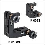 Kinematic Rectangular Optic Mounts, Fixed Optic Height