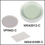 UV Fused Silica Broadband Windows, AR Coated: 1050 - 1700 nm