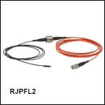 Rotary Joint Patch Cables with Ø200 µm Fiber and Ø1.25 mm Ferrules, Heat-Shrink Tubing