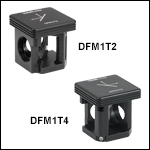 30 mm Cage-Compatible, Kinematic Beam-Turning Cube Bases and Inserts for Right-AngleOptics