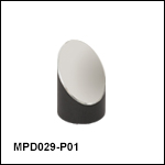 Ø1/2in 90° Off-Axis Parabolic Mirrors, Protected Silver Coating
