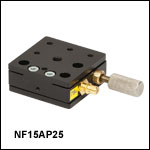 Single-Axis Flexure Stage: 1.5 mm Travel