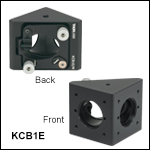 30 mm Cage Right-Angle Kinematic Elliptical Mirror Mount with Tapped Cage Rod Holes