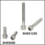 8-32 Stainless Steel Cap Screws