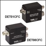 Fiber-Coupled InGaAs Detectors: 800 - 1700 nm