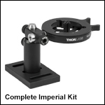 Optics Cleaning Fixture Kit for Ø0.15in to Ø1.77in Optics, Imperial