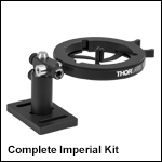 Optics Cleaning Fixture Kit for Ø0.15in to Ø3.00in Optics, Imperial