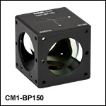 50:50 (R:T) Cube-Mounted Pellicle Beamsplitter, Coating: 635 nm