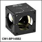 45:55 (R:T) Cube-Mounted Pellicle Beamsplitter, Coating: 700 - 900 nm