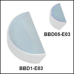 E03 Broadband Dielectric D-Shaped Mirrors (750 - 1100 nm)