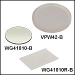 UV Fused Silica Broadband Windows,AR Coated: 650 - 1050 nm