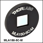 Ø1in (Ø25.4 mm)  Mounted Microlens Arrays