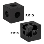 Counterbored Construction Cubes for 25 mm Rails