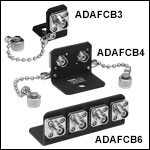 FC/APC to FC/APC L-Bracket, Narrow-Key-Slot Mating Sleeves