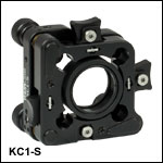 30 mm-Cage-Compatible SM1-Threaded Kinematic Mount with Slip Plate