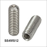 M4 x 0.7 Stainless Steel Single- and Double-Ended Setscrews