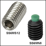 M6 x 1.0 Stainless Steel or Alloy Steel Setscrews