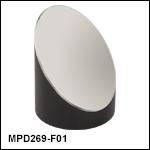 Ø2in 90° Off-Axis Parabolic Mirrors, UV-Enhanced Aluminum Coating