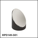 Ø1in 90° Off-Axis Parabolic Mirrors, Protected Aluminum Coating