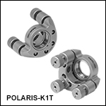 Ø1in Polaris<sup>®</sup> SM1-Threaded Kinematic Mirror Mounts, 3 Adjusters