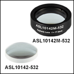 High-Precision, CNC Polished Aspheric Lenses, 532 nm V Coating