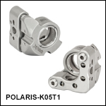 Ø1/2in Polaris<sup>®</sup> SM05-Threaded Kinematic Mirror Mounts, 2 Adjusters