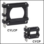 Cylindrical Lens Mounts for 30 mm and 60 mm Cage Systems