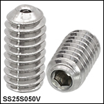 Vented, Vacuum-Compatible 1/4in-20 Setscrews