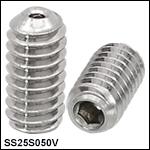 Vented, Vacuum-Compatible 1/4in-20 Setscrews