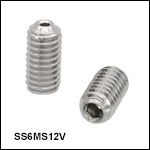 Vented, Vacuum-Compatible M6 x 1.0 Setscrews