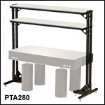 Free-Standing Optical Table Shelves