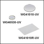 UV Fused Silica Broadband Windows, AR Coated: 245 - 400 nm