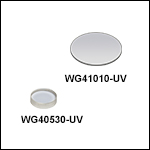 UV Fused Silica Broadband Windows, AR Coated: 245 - 400 nm